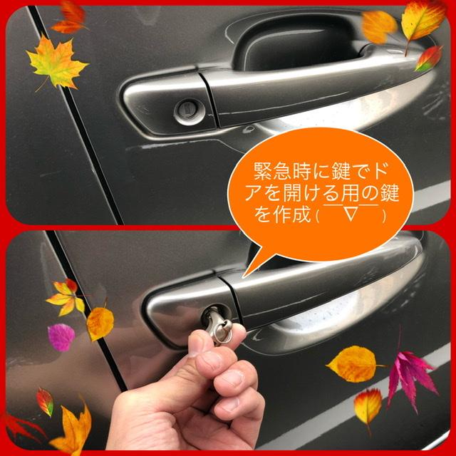 【レクサスHS250h】ドアの鍵を作成