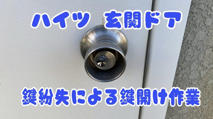 【ハイツ玄関ドア】鍵紛失による鍵開け ディンプル鍵穴壊さず鍵解除
