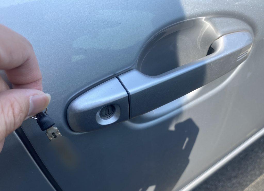 2代目・ラクティスの運転席ドアの鍵作成完了